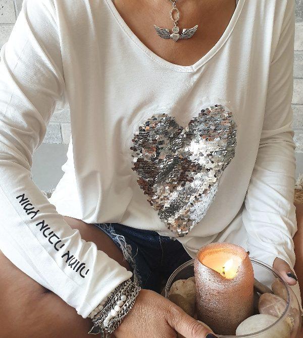 חולצה לב אומץ-אהבה-ואמונה